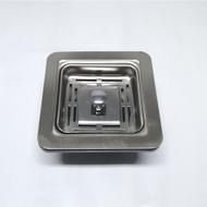 Square Basket Sink Waste Set - Basket and Plug