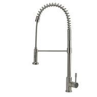 Prima - Stainless Steel Kitchen Mixer Tap - Brushed - Dual Flow