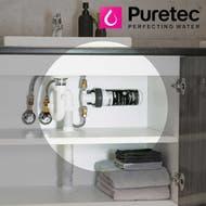 bathroom inline water filter system