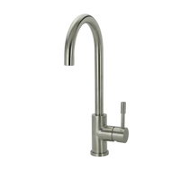 Swedia Klaas Goose Neck Stainless Steel Kitchen Mixer Tap - Brushed - without Pull-Out