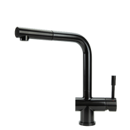 Swedia Sigge - Stainless Steel Kitchen Mixer Tap With Pull-Out - Satin Black Finish