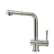 Swedia Sigge - Stainless Steel Kitchen Mixer Tap With Pull-Out - Brushed
