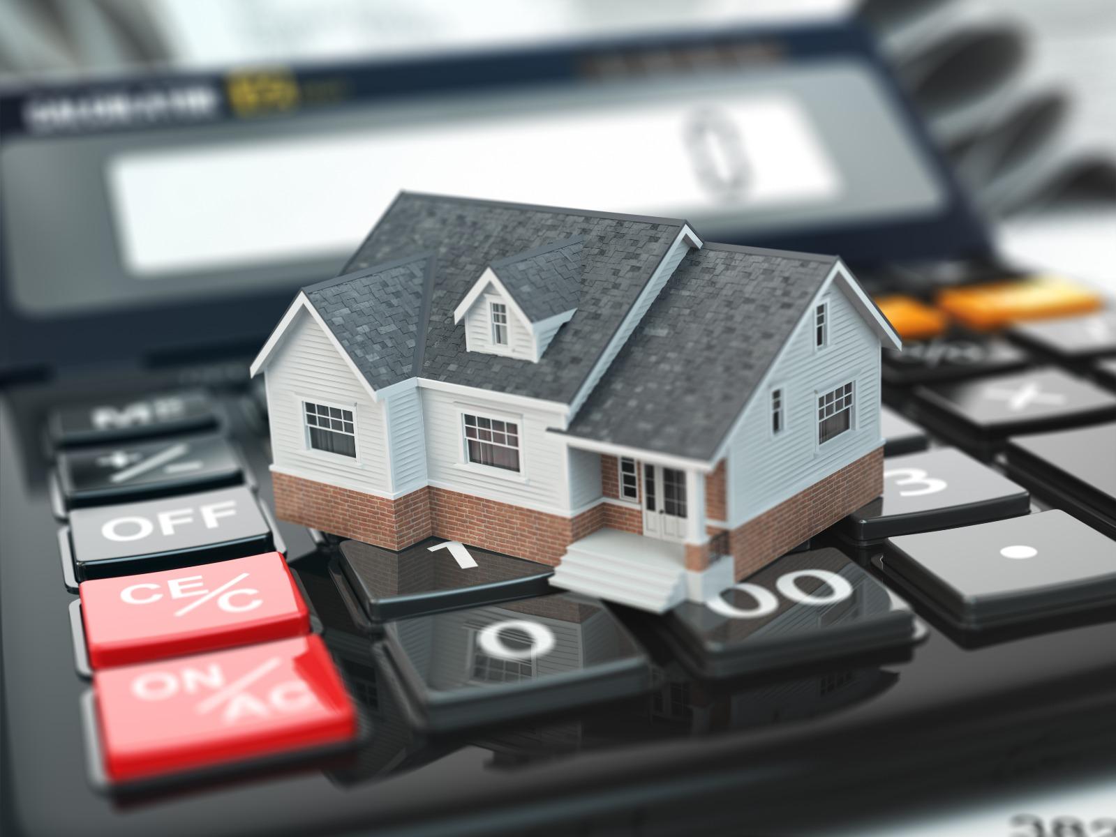 model house on calculator
