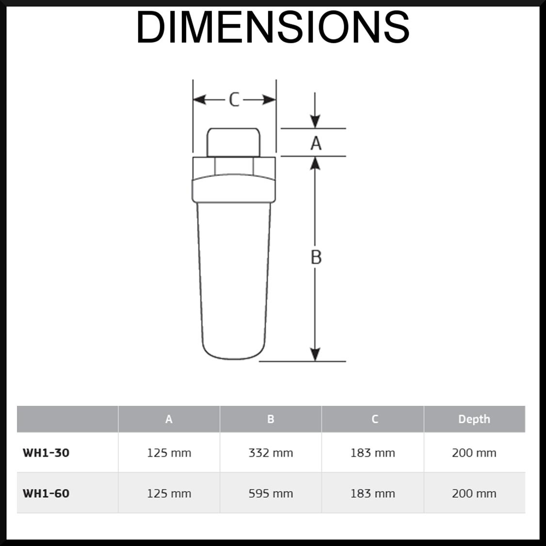 Puretec WH1 Whole house water filtration unit
