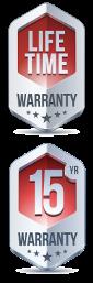 15 year faucet warranty