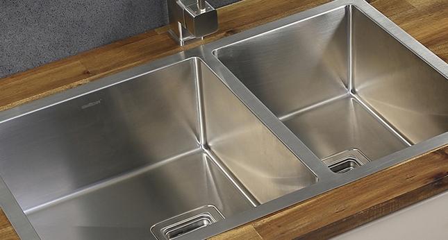 kitchen sink - stainless steel, sink accessories, double bowl kitchen sink, premium stainless steel sink